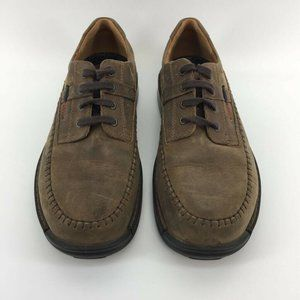 Ecco Light Mens Oxfords Shoes Brown Suede Lace Up